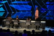 Foto/IPP/Gioia Botteghi 13/05/2016 Roma puntata finale di Italian_s got talent, sky, nella foto: Lodovica Covello e giuria