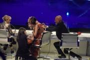 Foto/IPP/Gioia Botteghi 13/05/2016 Roma puntata finale di Italian_s got talent, sky, nella foto:  La Giuria Luciana Littizzetto,  Nina Zilli, Claudio Bisio