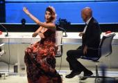 Foto/IPP/Gioia Botteghi 13/05/2016 Roma puntata finale di Italian_s got talent, sky, nella foto:  Claudio Bisio e Nina Zilli