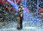 Foto/IPP/Gioia Botteghi 13/05/2016 Roma puntata finale di Italian_s got talent, sky, nella foto:      Moses , il vincitore con il secondo classificato Ivan Dalia