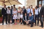 Foto/IPP/Gioia Botteghi 30/05/2016 Roma  presentazione della fiction di canale 5 MATRIMONI E ALTRE FOLLIE, nella foto Nancy Brilli e Massimo Ghini ed il cast