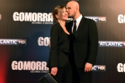 Foto/IPP/Gioia Botteghi 09/05/2016 Roma  Presentazione di Gomorra2 serie Sky, red carpet, nella foto:  Marco D' Amore con la moglie