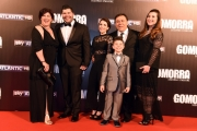 Foto/IPP/Gioia Botteghi 09/05/2016 Roma  Presentazione di Gomorra2 serie Sky, red carpet, nella foto:  Salvatore Esposito con la sua famiglia