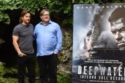 Foto/IPP/Gioia Botteghi 03/10/2016 Roma Presentazione del film deepwater, nella foto Mark Wahlberg e il produttore Lorenzo di Bonaventura