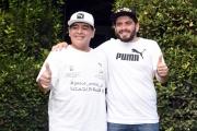 Foto/IPP/Gioia Botteghi 10/10/2016 Roma presentazione in rai della Partita della pace, nella foto Maradona con il figlio italiano suo omonimo