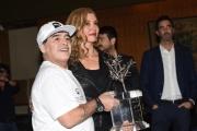 Foto/IPP/Gioia Botteghi 10/10/2016 Roma presentazione in rai della Partita della pace, nella foto Maradona con Mully Carlucci