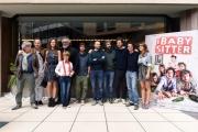 Foto/IPP/Gioia Botteghi 11/10/2016 Roma presentazione del film I baby sitter, nella foto: il regista Giovanni Bognetti con il cast