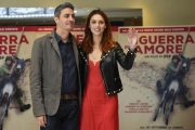 Foto/IPP/Gioia Botteghi 12/10/2016 Roma presentazione del film in guerra per amore, nella foto:   Miriam Leone e Pif