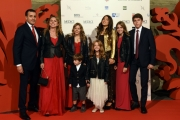 Foto/IPP/Gioia Botteghi 14/10/2016 Firenze presentazione della fiction di rai uno I Medici, red carpet,  nella foto Luca Bernabei con tutta la famiglia
