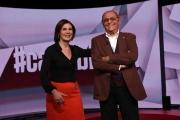 Foto/IPP/Gioia Botteghi 07/11/2016 Roma prima puntata di Carta Bianca rai tre , nelle foto: Bianca berlinguer con Renzo Arbore suo primo ospite