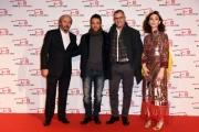 Foto/IPP/Gioia Botteghi 07/12/2016 Roma  primo red carpet della manifestazione Roma Fiction Fest, nella foto: il regista Luca Manfredi con Elio Germano con Piccioni e De Angelis