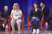 Foto/IPP/Gioia Botteghi 12/05/2016 Roma seconda puntata della nuova serie del maurizio Costanzo Show, nella foto: Domenica  Loffredo (genitori della piccola Fortuna, abusata e uccisa a soli 6 anni) più la nonna e l'avvocato
