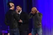 Foto/IPP/Gioia Botteghi 12/05/2016 Roma seconda puntata della nuova serie del maurizio Costanzo Show, nella foto: i comici Gigi e Ross con Salvatore Esposito