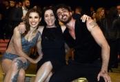 Foto/IPP/Gioia Botteghi 23/04/2016 Roma finale di ballando con le stelle, Michele Morrone e Ekaterina Vaganova secondi classificati con la madre di Michele