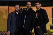 Foto/IPP/Gioia Botteghi 24/01/2017 Roma presentazione del film Smetto quando voglio Masterclass, nella foto:  e tre attori new entry del cast, Marco Bonini, Rosario Lisma, Giampaolo Morelli