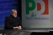 Foto/IPP/Gioia Botteghi 29/01/2017 Roma Lucia Annunziata intervista Michele Emiliano presidente della regione Puglia nella trasmissione in mezz'ora rai tre