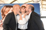 Foto/IPP/Gioia Botteghi 03/02/2017 Roma presentazione del film MAMMA O PAPA', nella foto: Paola Cortellesi e Antonio Albanese ed il regista Riccardo Milani