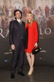 Foto/IPP/Gioia Botteghi 23/03/2017 Roma  presentazione del film 3d di SKY RAFFAELLO, nella foto Flavio Parenti con signora