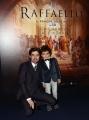 Foto/IPP/Gioia Botteghi 23/03/2017 Roma  presentazione del film 3d di SKY RAFFAELLO, nella foto Flavio Parenti con Alessio Di Domenico, Raffaello grande e piccolo