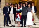 Foto/IPP/Gioia Botteghi 03/04/2017 Roma presentazione del film Startup, nella foto: cast con il vero Matteo Achilli