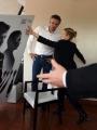 Foto/IPP/Gioia Botteghi 05/04/2017 Roma presentazione del film La meccanica delle ombre, nella foto il regista  Thomas Kruithof con  Alba Rohrwacher cade il manifesto