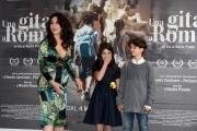 Foto/IPP/Gioia Botteghi 18/04/2017 Roma presentazione del film  Una gita a Roma, nella foto:  Tea Buranelli e Libero Natoli la regista Karin Proia  che è anche la mamma della bambina