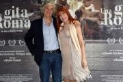 Foto/IPP/Gioia Botteghi 18/04/2017 Roma presentazione del film  Una gita a Roma, nella foto:  Phil Palmer ( Chitarrista) con la moglie