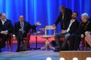 Foto/IPP/Gioia Botteghi 12/11/2015 Roma Prima puntata della nuova serie del Maurizio Costanzo Show, nella foto: Bruno e Federico Vespa