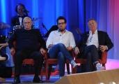 Foto/IPP/Gioia Botteghi 12/11/2015 Roma Prima puntata della nuova serie del Maurizio Costanzo Show, nella foto: Enzo Iacchetti e dil figlio Martino