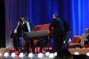 Foto/IPP/Gioia Botteghi 12/11/2015 Roma Prima puntata della nuova serie del Maurizio Costanzo Show, nella foto:Enrico Papi e Gerry Scotti traslocatori