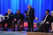 Foto/IPP/Gioia Botteghi 12/11/2015 Roma Prima puntata della nuova serie del Maurizio Costanzo Show, nella foto: Gerry Scotti, Sergio Friscia, Federico Vespa