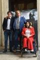Foto/IPP/Gioia Botteghi 27/04/2017 Roma  presentazione del film IL MONDO DI MEZZO, nella foto:  il regista Massimo Scaglione con Joe Scaglione e Carolina Gaudio i produttori