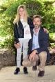 Foto/IPP/Gioia Botteghi 04/05/2017 Roma presentazione della fiction rai Maltese il romanzo del commissario, nella foto:  Kim Rossi Stuart con Cloe Romagnoli