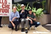 Foto/IPP/Gioia Botteghi 05/05/2017 Roma presentazione del film TUTTO QUELLO CHE VUOI, nella foto Andrea Carpenzano Giuliano Montaldo ed il regista Francesco Bruni