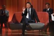Foto/IPP/Gioia Botteghi 24/05/2017 Roma sesta puntata del Maurizio Costanzo Show, nella foto Matteo Renzi