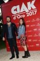 Foto/IPP/Gioia Botteghi 08/06/2017 Roma, premiazione dei Ciak d'oro, nella foto: Edoardo De Angelis e moglie