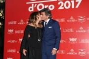 Foto/IPP/Gioia Botteghi 06/06/2017 Roma, presentazione dei Nastri d'argento, nella foto:  Daniela Santanchè con Dimitri Kunz