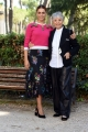 Foto/IPP/Gioia Botteghi 22/09/2017 Roma, presentazione della fiction di rai uno IN ARTE NINO, nella foto: Miriam Leone che interpreta Erminia con la vera Erminia Manfredi