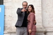 Foto/IPP/Gioia Botteghi 09/10/2017 Roma, presentazione del film 9 lune e mezza, nella foto: Michela Andreozzi e Massimiliano Vado