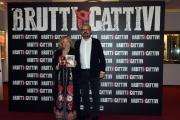 Foto/IPP/Gioia Botteghi 16/10/2017 Roma, presentazione  del film SPORCHI E CATTIVI, nella foto il  regista  Cosimo GOMEZ e signora ROSA CANOVA