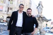 Foto/IPP/Gioia Botteghi 15/11/2016 Roma Presntazione della serie tv LA MAFIA UCCIDE SOLO D'ESTATE rai uno, nella foto:  Pif con il regista Luca Riboni
