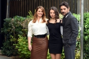 Foto/IPP/Gioia Botteghi 16/11/2017 Roma, presentazione della fiction di rai uno Scomparsa, nella foto: Vanessa Incontrada e Giuseppe Zeno con Eleonora Gaggero Italy Photo Press - World Copyright