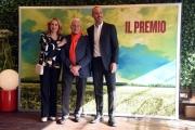 Foto/IPP/Gioia Botteghi  04/12/2017 Roma, presentazione del film IL PREMIO, nella foto   i produttori  FULVIO e FEDERICA LUCISANO e VISION DISTRIBUTION Italy Photo Press - World Copyright