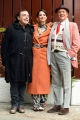 Foto/IPP/Gioia Botteghi 07/12/2017 Roma, presentazione del programma di rai due INDIETRO TUTTA 30 E L'ODE, nella foto Andrea Delogu e Arbore con Frassica Italy Photo Press - World Copyright