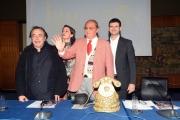 Foto/IPP/Gioia Botteghi 07/12/2017 Roma, presentazione del programma di rai due INDIETRO TUTTA 30 E L'ODE, nella foto Andrea Delogu e Arbore con Frassica ed il direttore di rai 2 Andrea Fabiano Italy Photo Press - World Copyright
