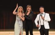 Foto/IPP/Gioia Botteghi 08/04/2017 Roma puntata di ballando con le stelle del 8 aprile, nella foto Marla Maples ex Trump con Milly Carlucci e Paolo Belli