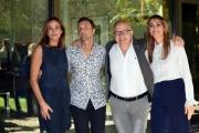 Foto/IPP/Gioia Botteghi 13/10/2017 Roma, presentazione di DOMENICA IN, nella foto: Cristina e Benedetta Parodi con i due comici Leonardo Fiaschi e Marco Marzocca
