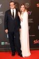 Foto/IPP/Gioia Botteghi 27/03/2017 Roma Premio David di Donatello Red carpet, nella foto: Muccino e Angelica Russo
