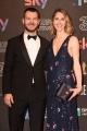 Foto/IPP/Gioia Botteghi 27/03/2017 Roma Premio David di Donatello Red carpet, nella foto: Cattelan e signora