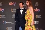 Foto/IPP/Gioia Botteghi 27/03/2017 Roma Premio David di Donatello Red carpet, nella foto: Stefano Accorsi con signora
